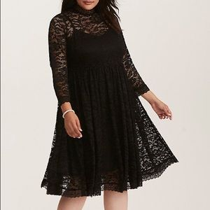 Torrid | Black lace long sleeve dress